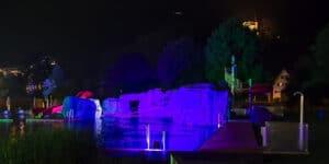 Parkbad Kriens in der Nacht